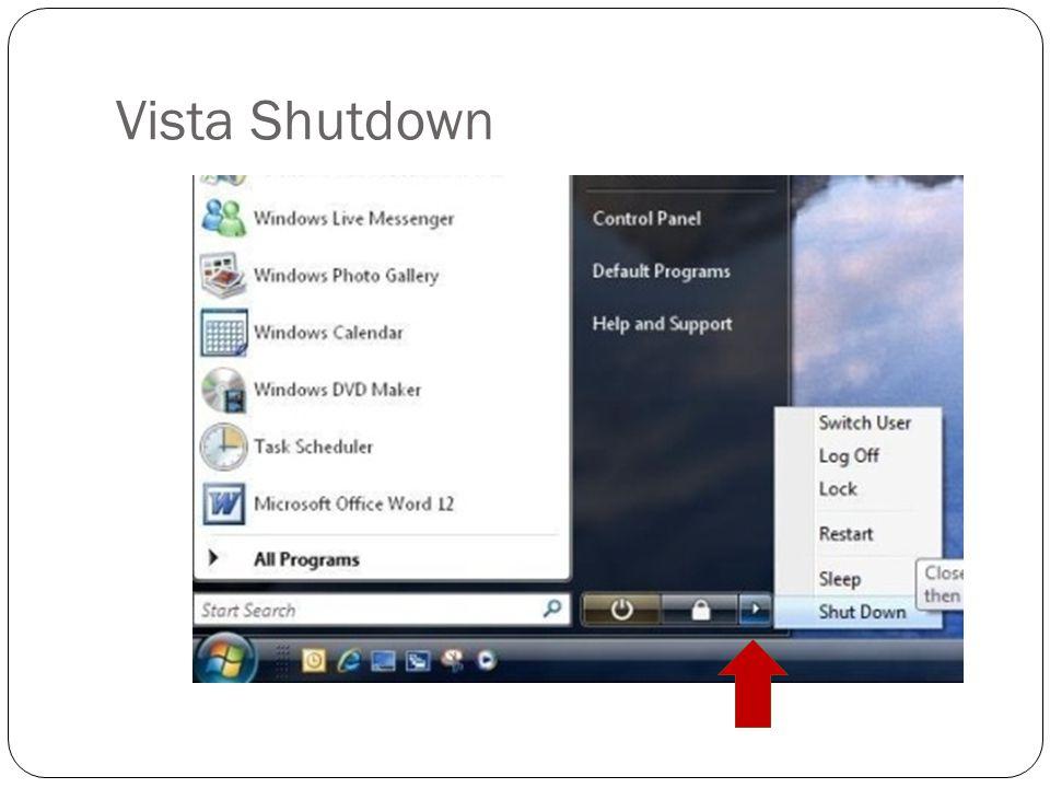 Vista Shutdown