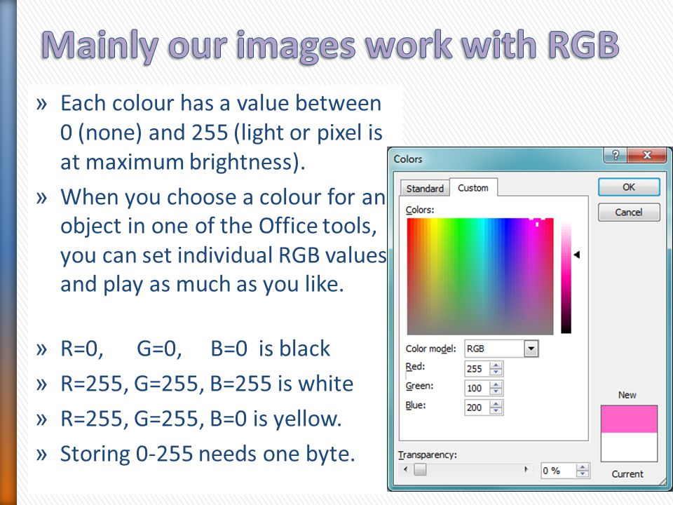 » Transparency has recently become more popular, so some older image formats do not cater for it.