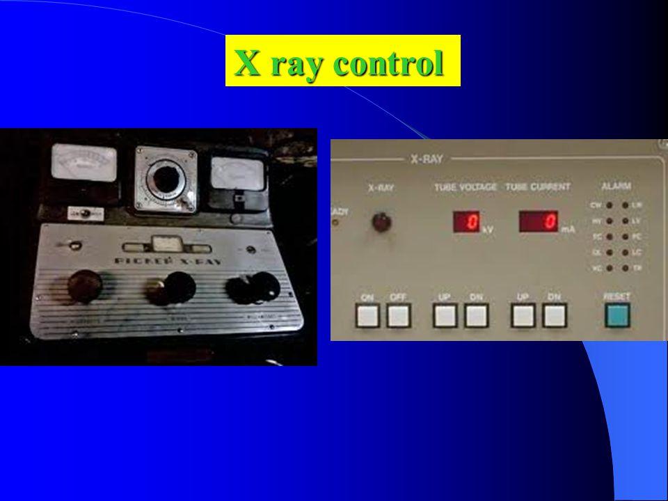 X ray control