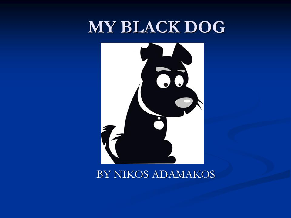 MY BLACK DOG MY BLACK DOG BY NIKOS ADAMAKOS BY NIKOS ADAMAKOS