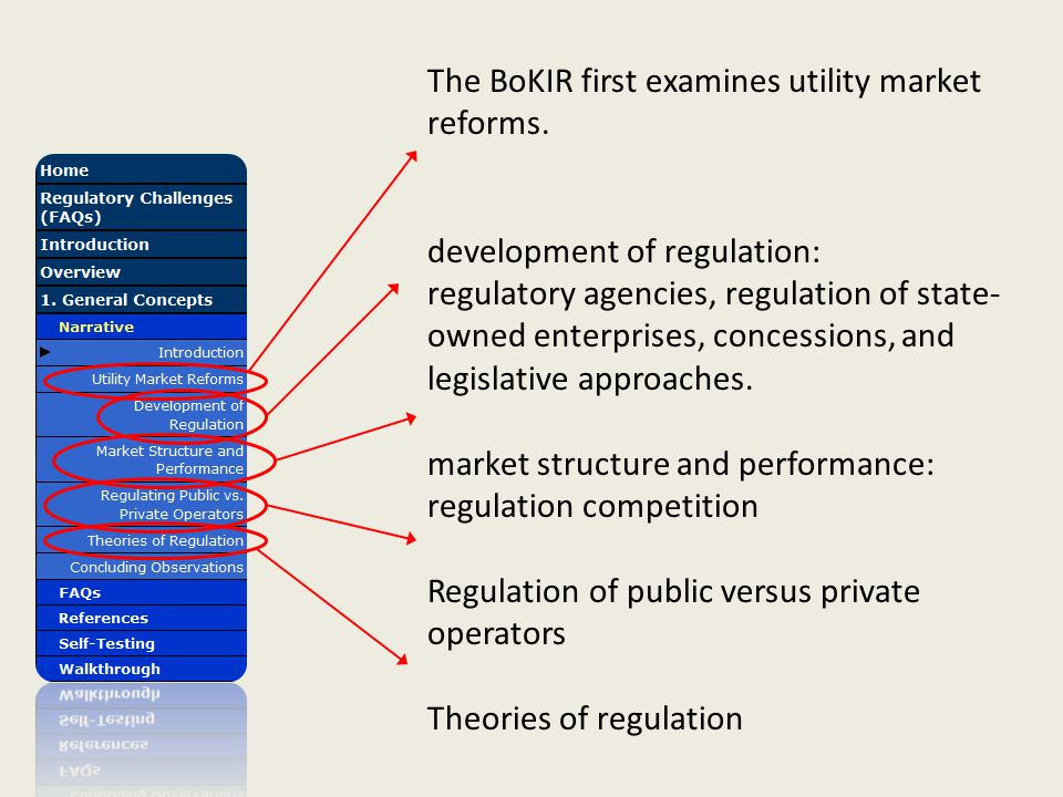 The BoKIR first examines utility market reforms.