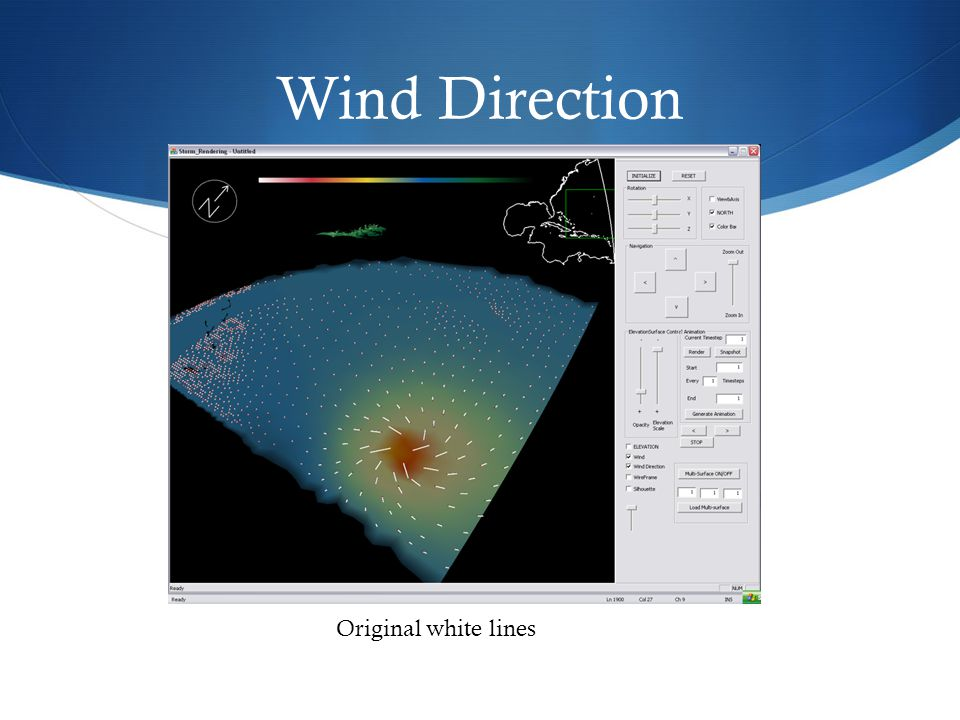 Wind Direction Original white lines