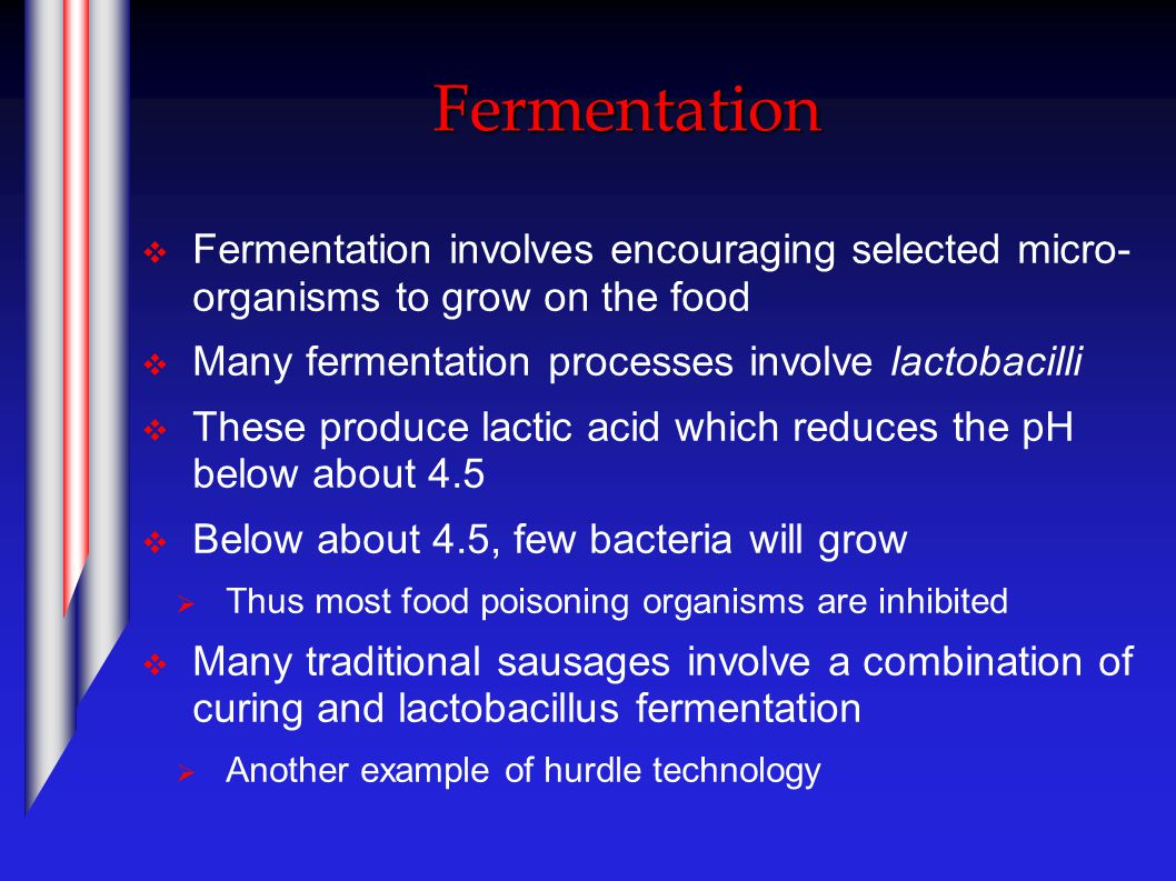 Pasteurisation and Sterilisation  Pasteurisation and sterilisation kill micro- organisms by heating  Pasteurisation involves heating below 100°C and kills vegetative organisms  Sterilisation involves heating above 100°C and kills both vegetative organisms and microbial spores.