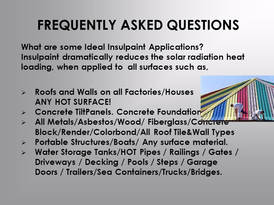What are some Ideal Insulpaint Applications.