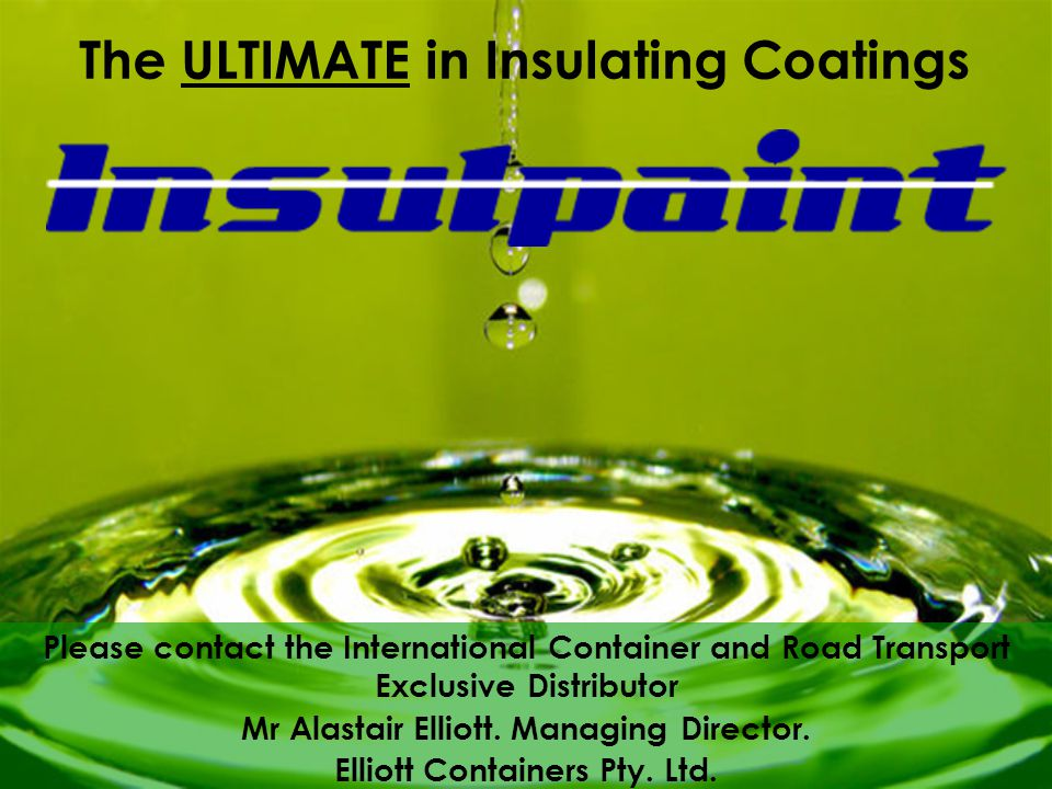 Please contact the International Container and Road Transport Exclusive Distributor Mr Alastair Elliott.