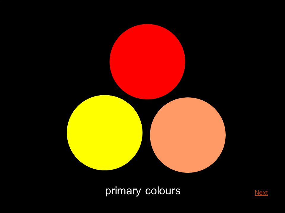 primary colours primary colours can be found equally spaced on the twelve part colour wheel Main Menu