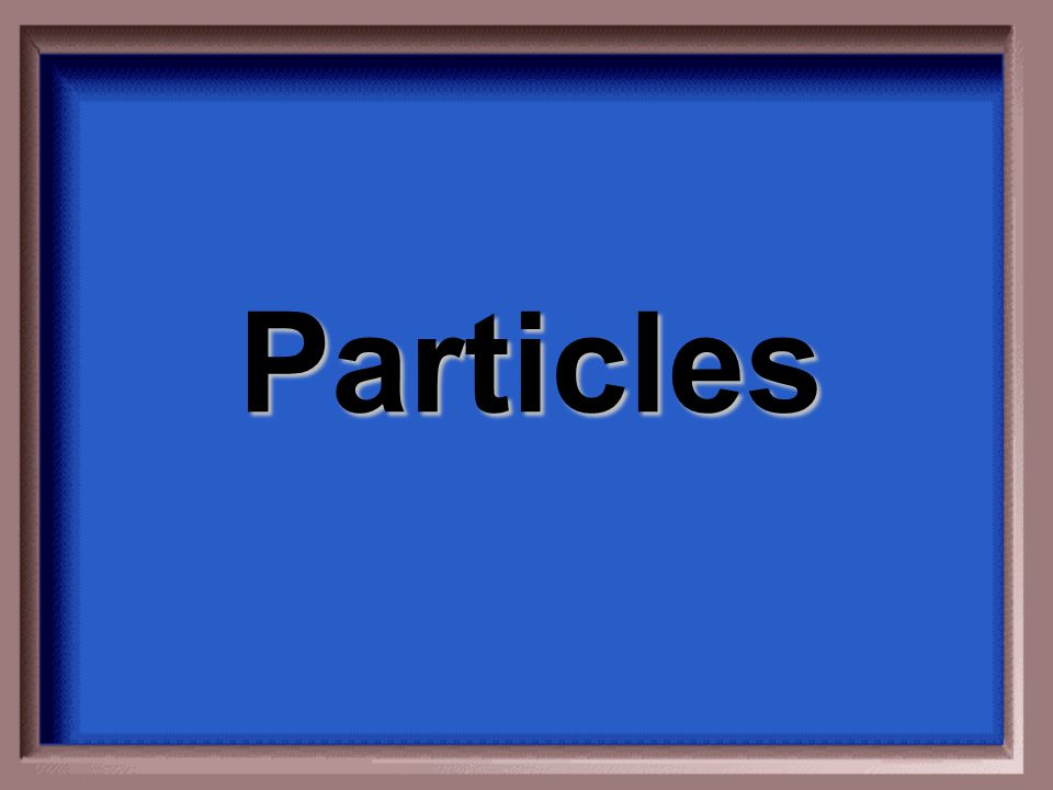 What is insoluble?