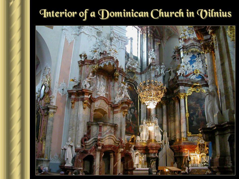 Interior of a Dominican Church in Vilnius