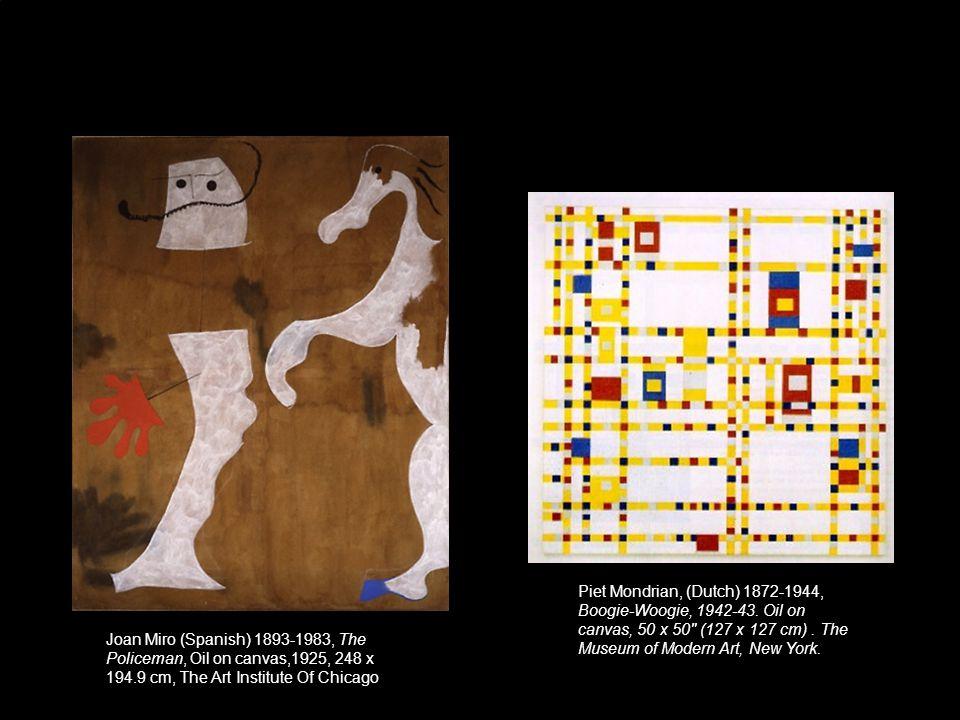 Piet Mondrian, (Dutch) 1872-1944, Boogie-Woogie, 1942-43.