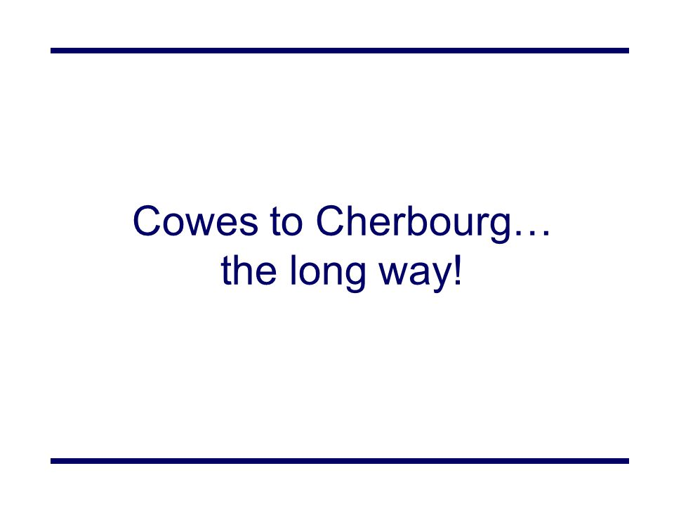 Cowes to Cherbourg… the long way!