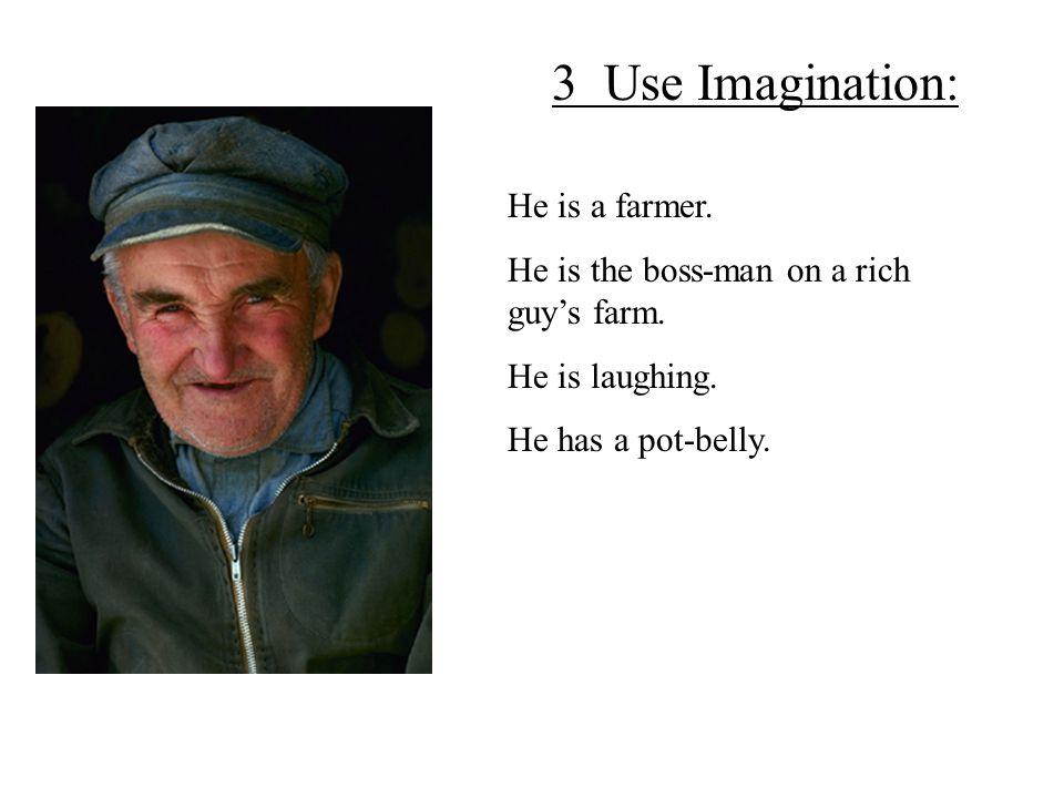 He is a farmer. He is the boss-man on a rich guy's farm.