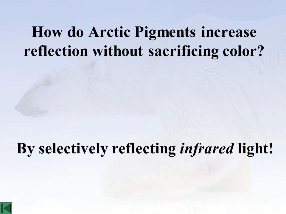 How do Arctic Pigments increase reflection without sacrificing color.