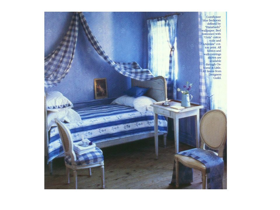 Monochromatic Colors Scheme  Literally one hue is used  Can vary in regard to light and dark  Can vary in intensity  If done right, this room will be unified and harmonious, however, a major danger is monotony.