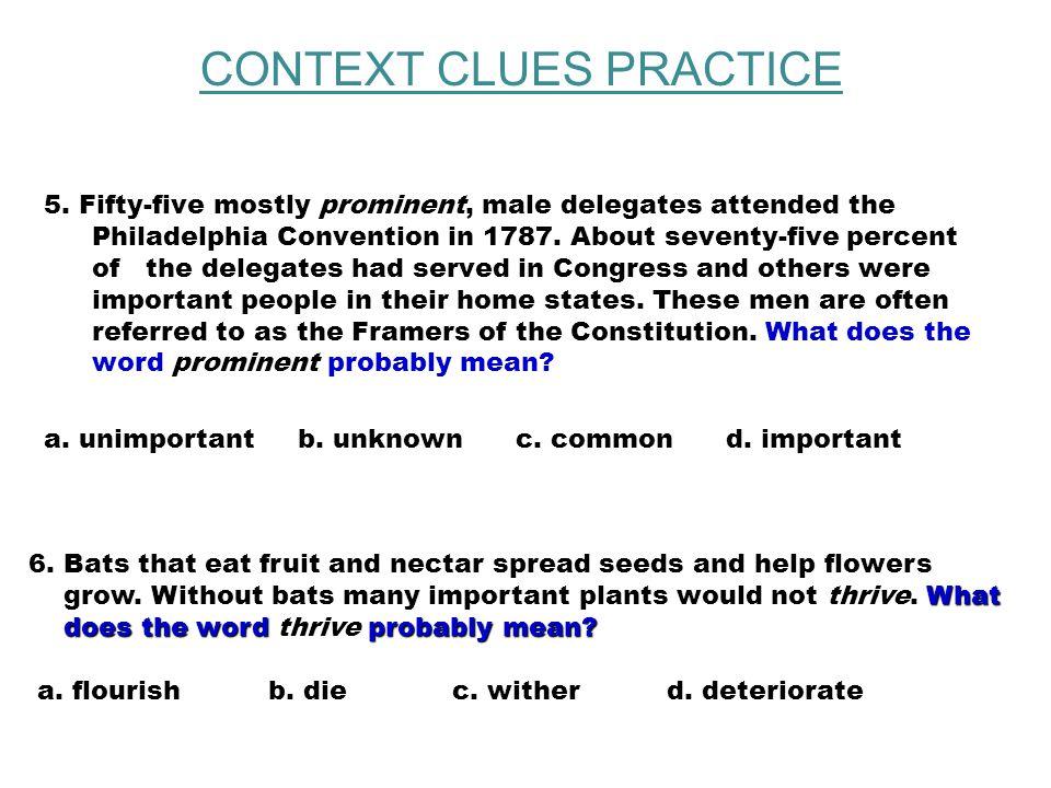 CONTEXT CLUES PRACTICE 3.