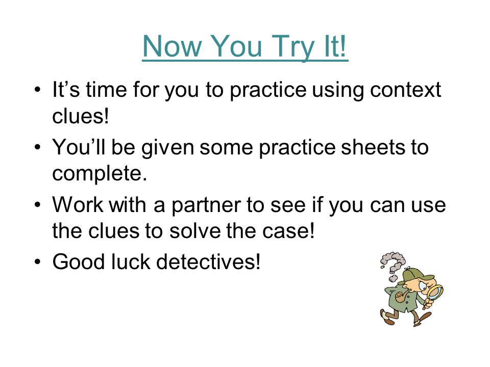 CONTEXT CLUES PRACTICE prominent prominent 5.