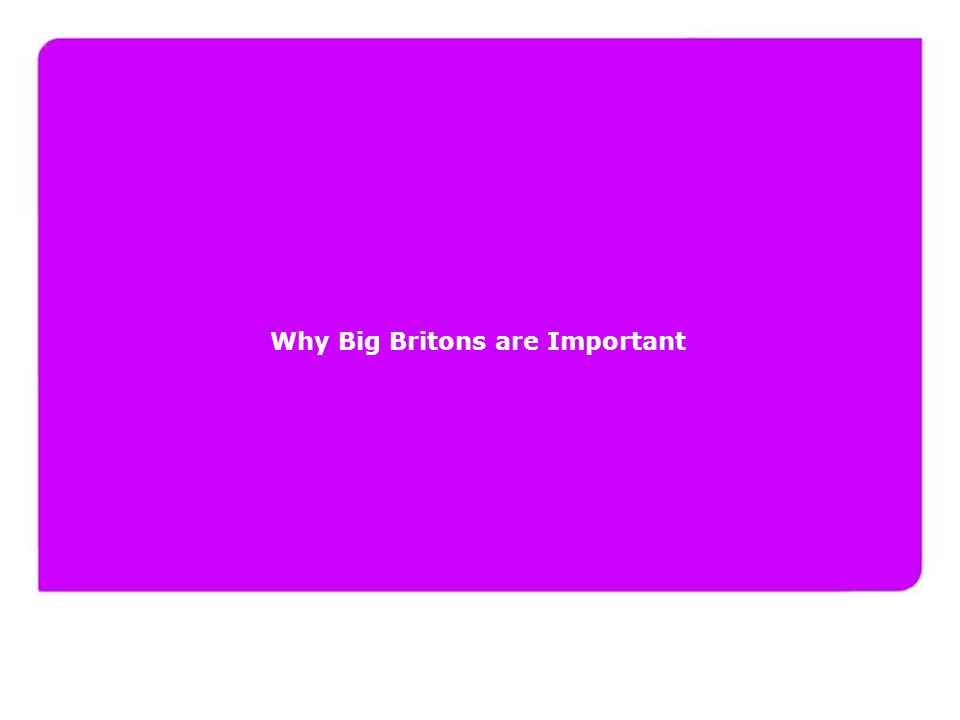 www.yourfuturelondon.com Why Big Britons are Important