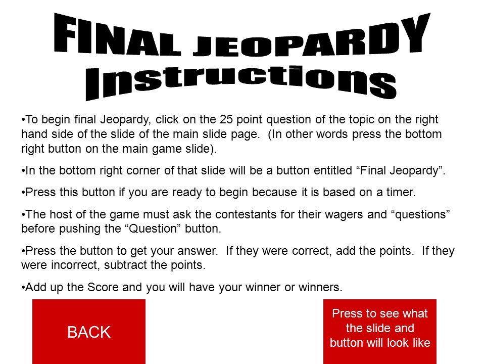"What was the start of World War II? We hope you enjoyed TAKS Jeopardy. To end the game press ""esc"" key. Or to go back to the main game slide, press th"