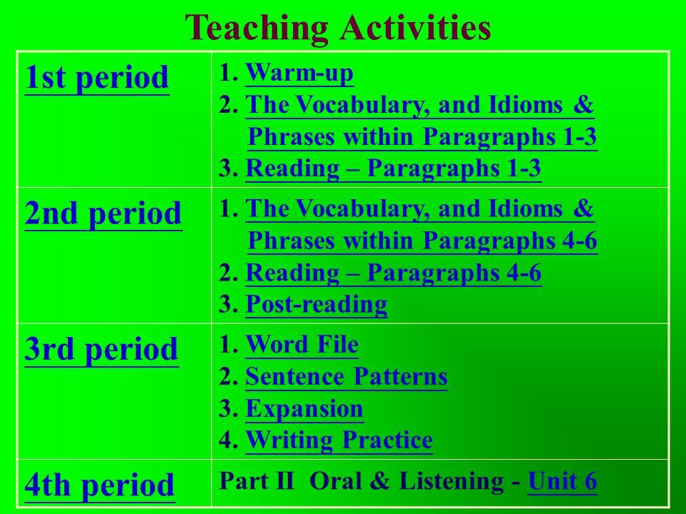 Teaching Activities Index