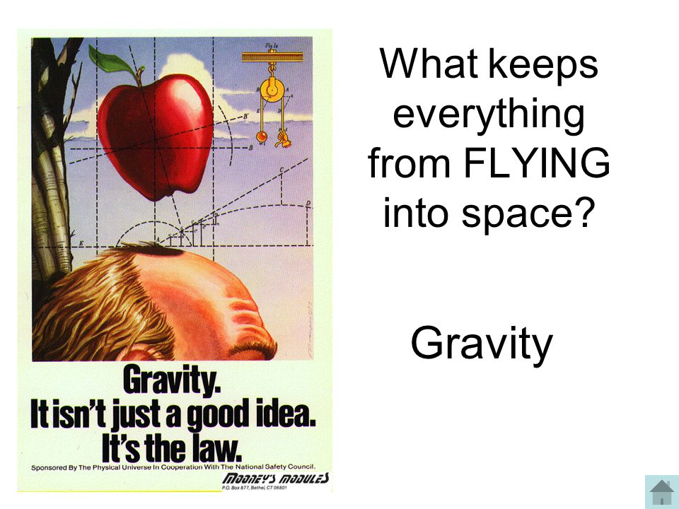What keeps everything from FLYING into space? Gravity