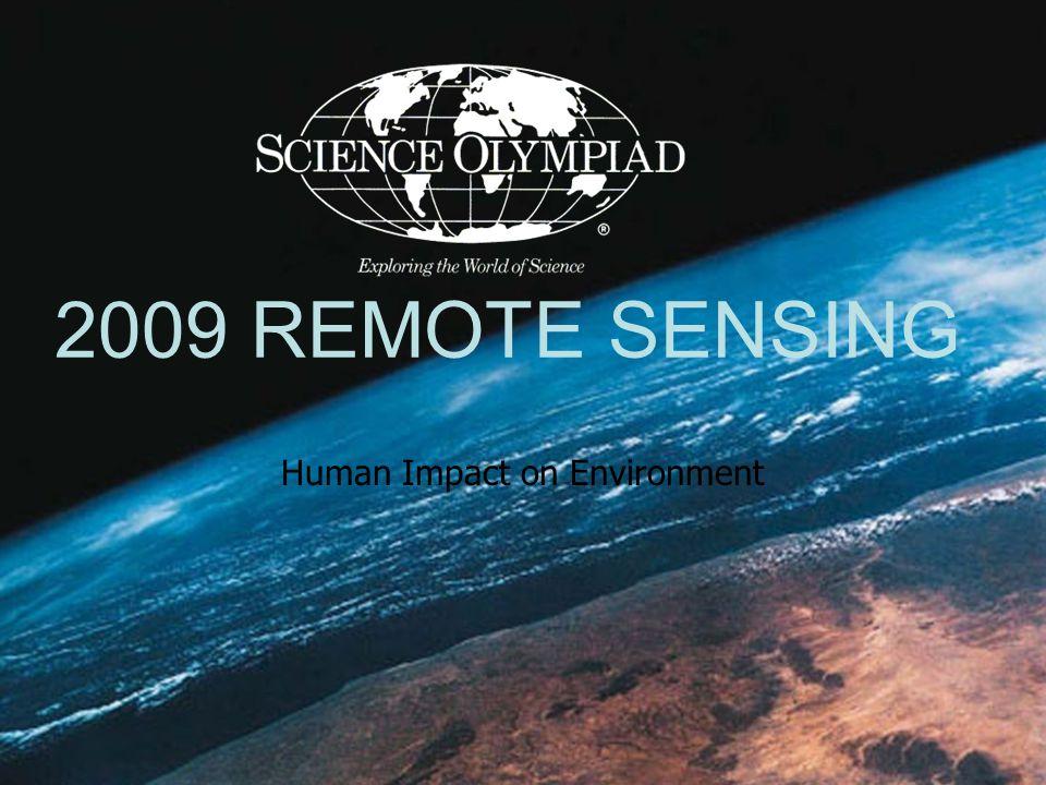 2009 REMOTE SENSING Human Impact on Environment