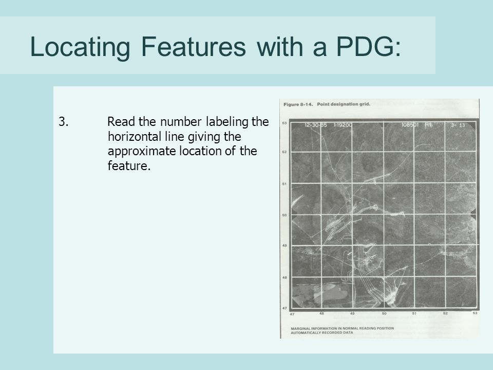 Locating Features with a PDG: 3.