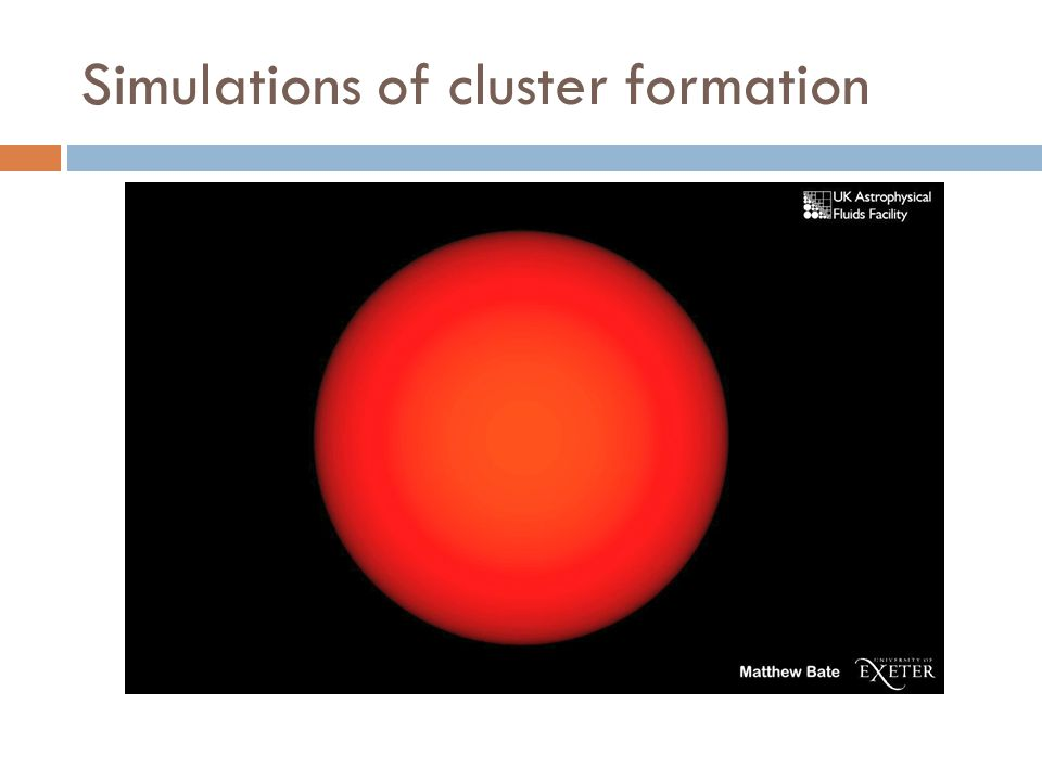 Simulations of cluster formation
