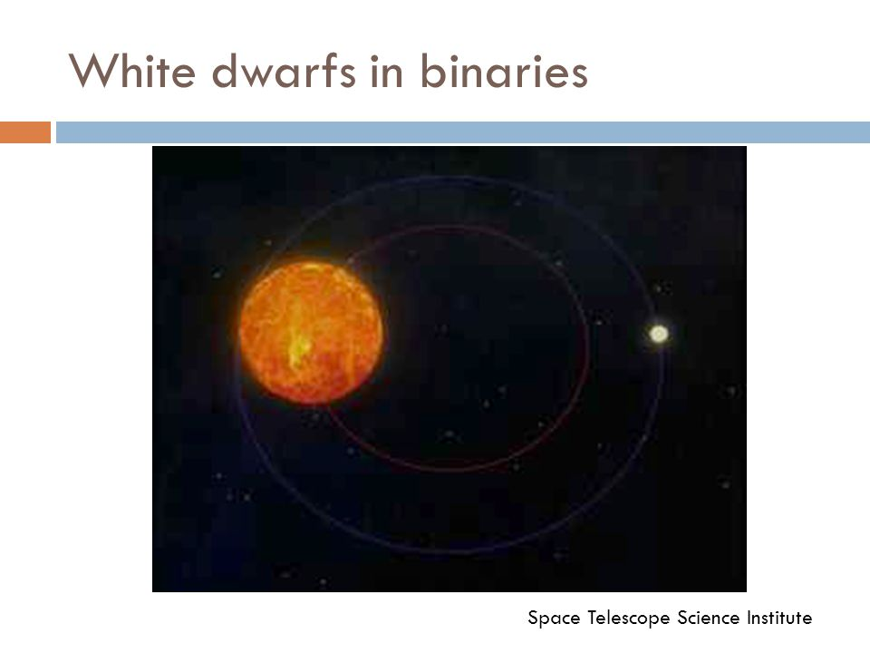 White dwarfs in binaries Space Telescope Science Institute