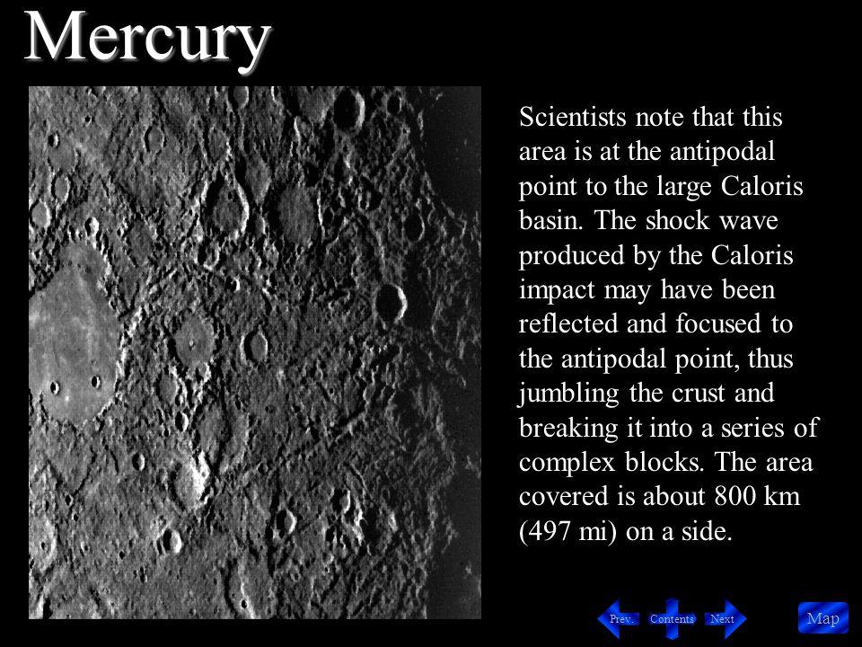 Contents NextPrev. Map Valles Marineris Shield Volcano South Pole Mars