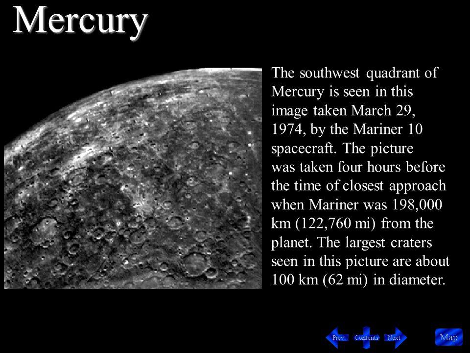 Contents NextPrev.Map The small, bright halo crater (center) is 10 km (6 mi) in diameter.