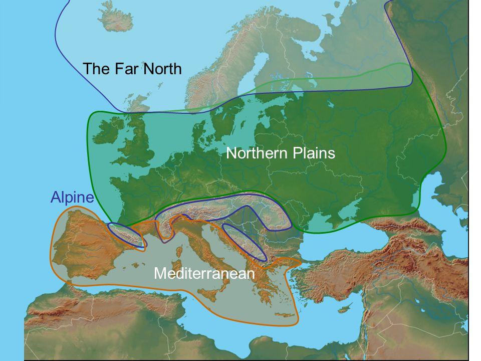 The Far North Alpine Mediterranean Northern Plains