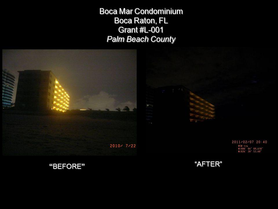 Boca Mar Condominium Boca Raton, FL Grant #L-001 Palm Beach County BEFORE AFTER