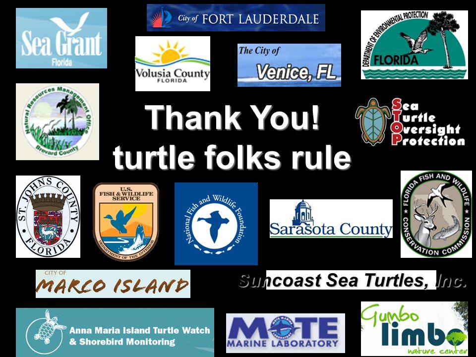 Suncoast Sea Turtles, Inc. Thank You! turtle folks rule