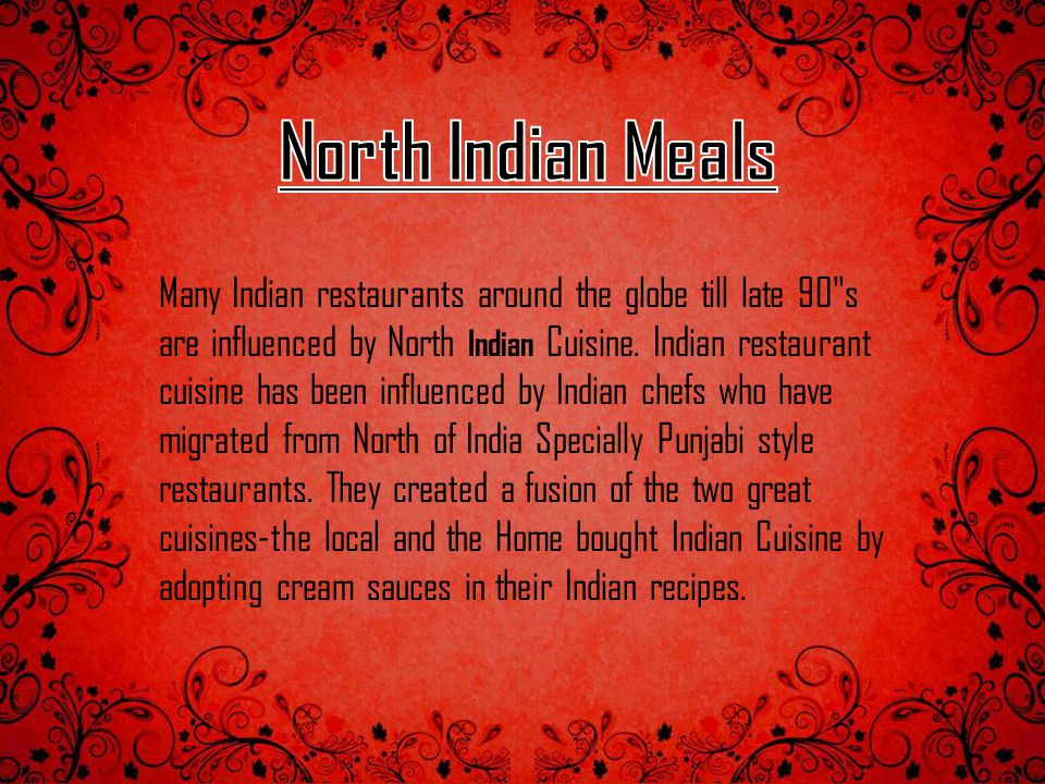 Many Indian restaurants around the globe till late 90