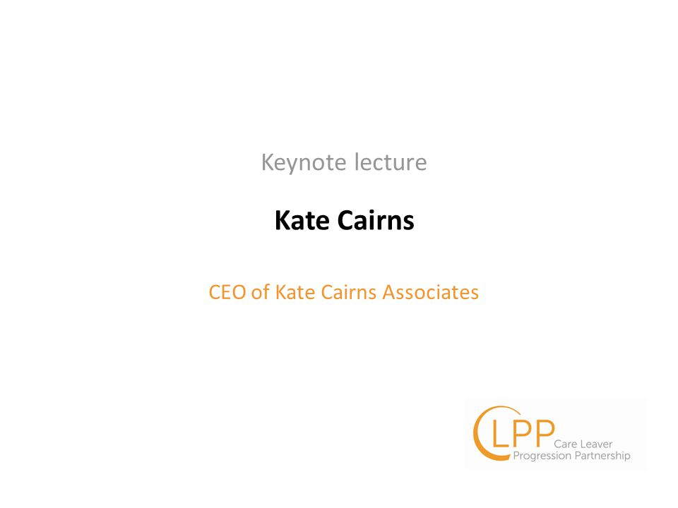 Kate Cairns CEO of Kate Cairns Associates Keynote lecture