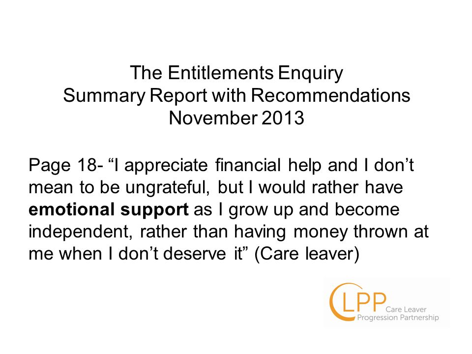 Supporting care experienced young people to manage their emotions.