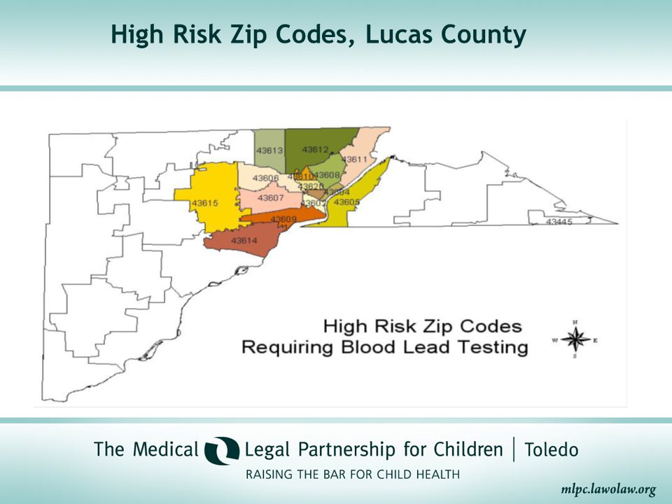 High Risk Zip Codes, Lucas County