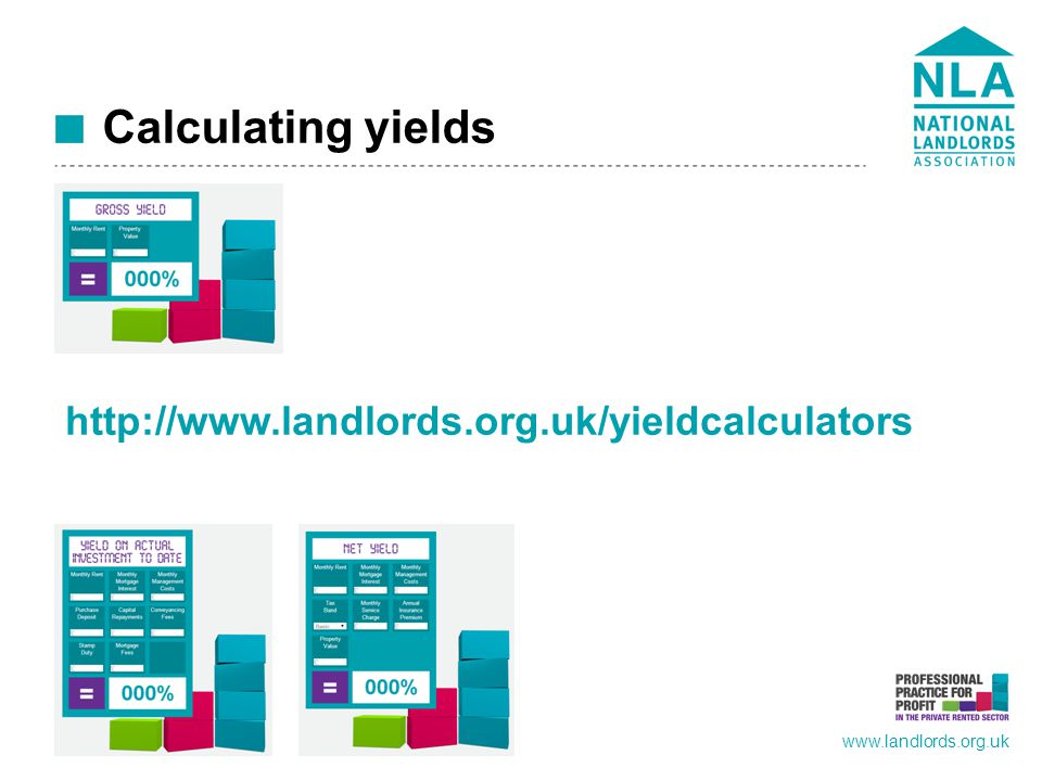 www.landlords.org.uk Calculating yields http://www.landlords.org.uk/yieldcalculators