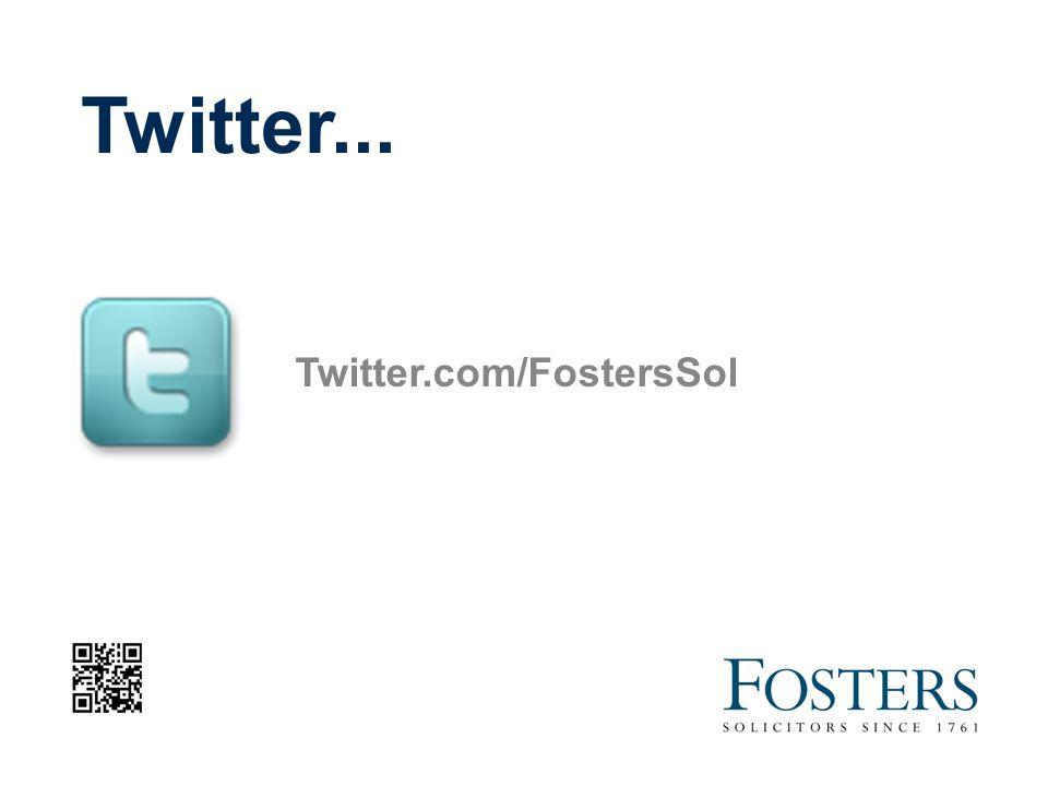 Twitter... Twitter.com/FostersSol