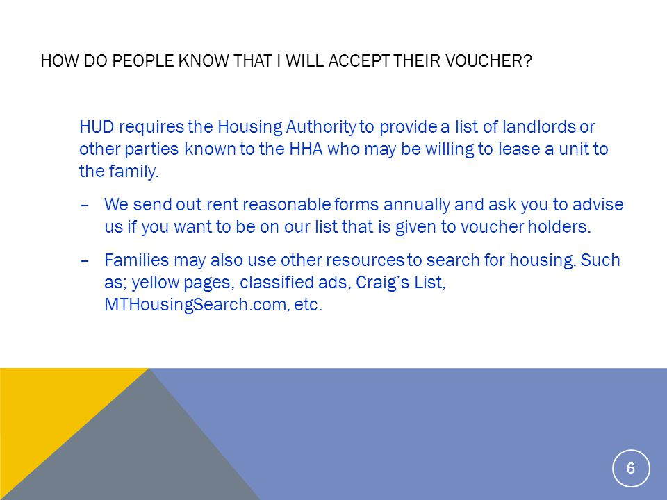So how do I qualify to be a landlord that can receive federal subsidy.