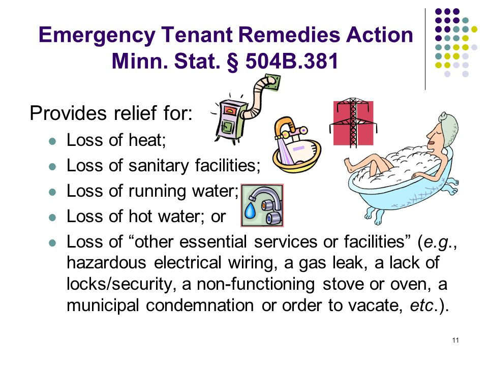 11 Emergency Tenant Remedies Action Minn. Stat.