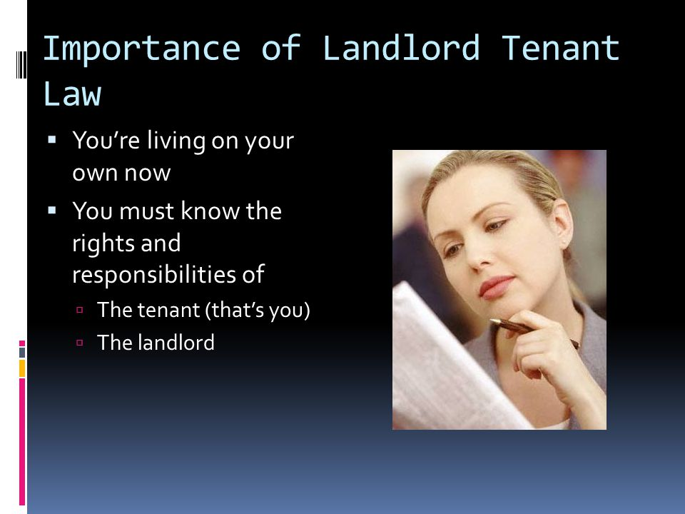 Repairs  Put your request in writing  Give landlord time to respond.