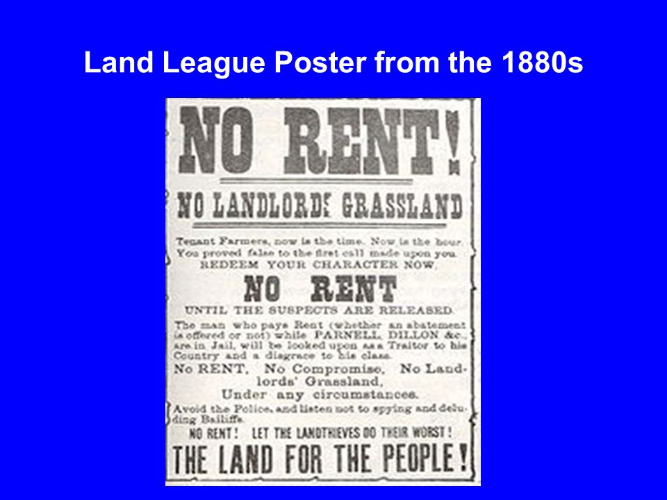 Land League Poster from the 1880s