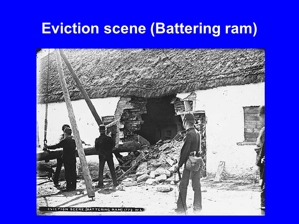 Eviction scene (Battering ram)