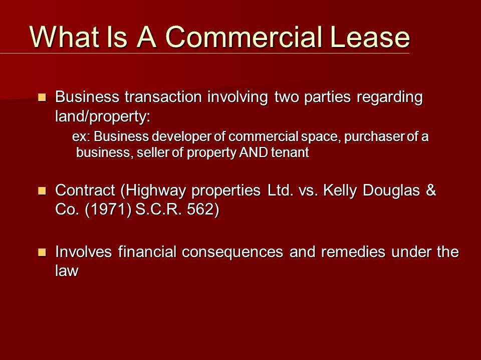 Tenant Considerations Avoid Landlord termination rights Avoid Landlord termination rights Lease should contain a right to share space with a licensee, concessionaire or other third party where it will take up a certain percentage of the floor area (i.e less than 20%) Lease should contain a right to share space with a licensee, concessionaire or other third party where it will take up a certain percentage of the floor area (i.e less than 20%) Try to obtain a release from the Landlord in cases of assignments Try to obtain a release from the Landlord in cases of assignments Try to retain a profit in cases of a sublease Try to retain a profit in cases of a sublease Assignment And Subletting