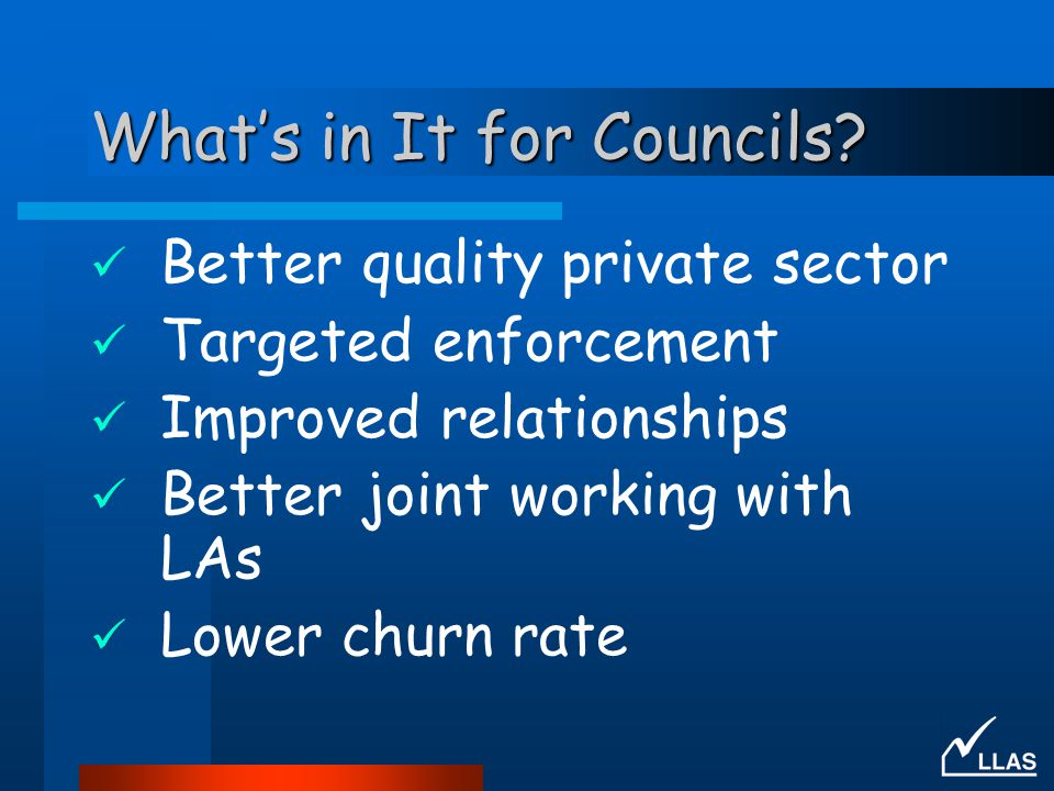 What's in It for Councils.