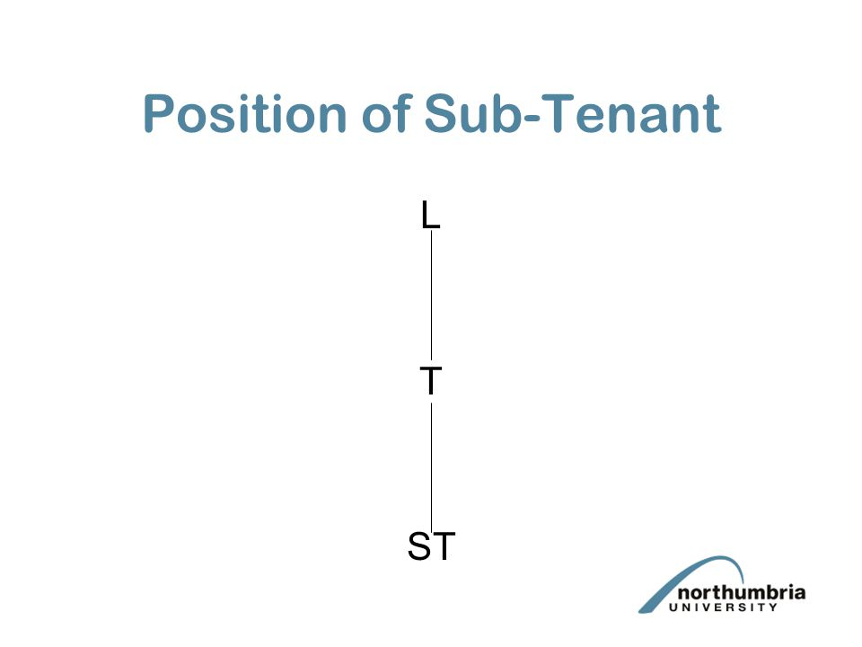 Position of Sub-Tenant L T ST