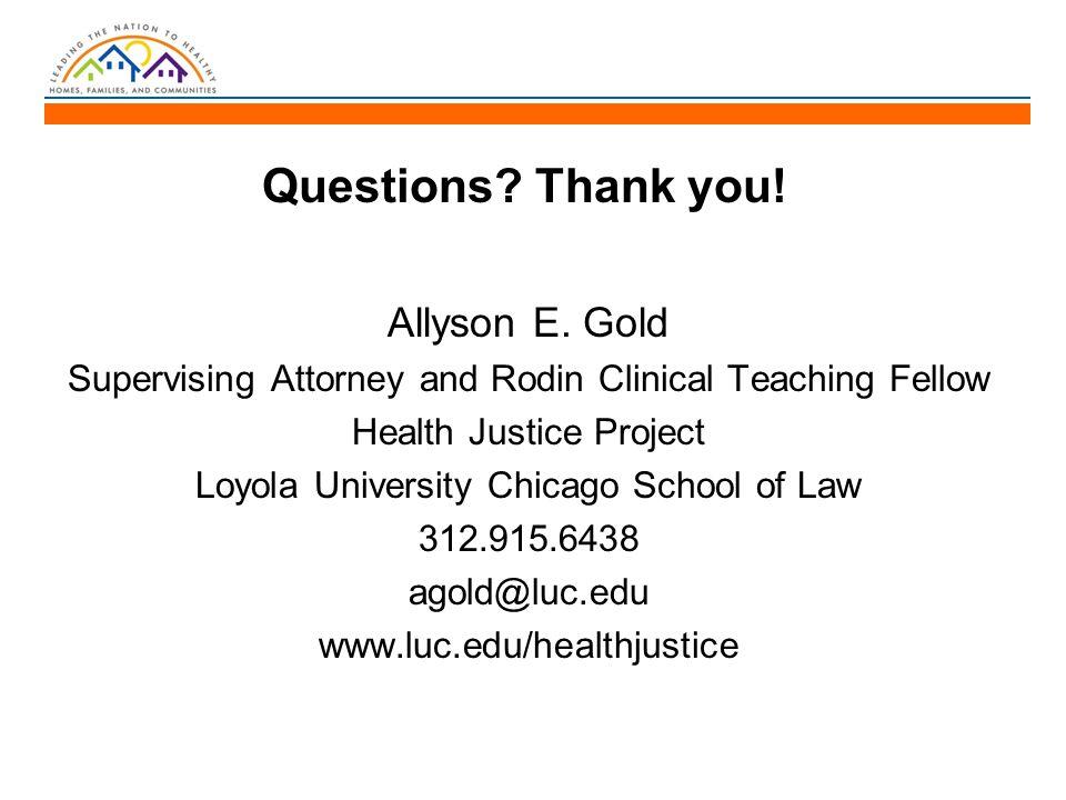 Questions. Thank you. Allyson E.