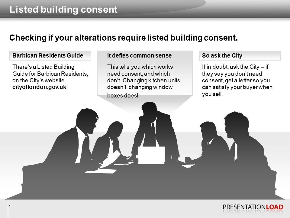 5 The Department of Planning and Transportation can advise you whether you actually need consent.