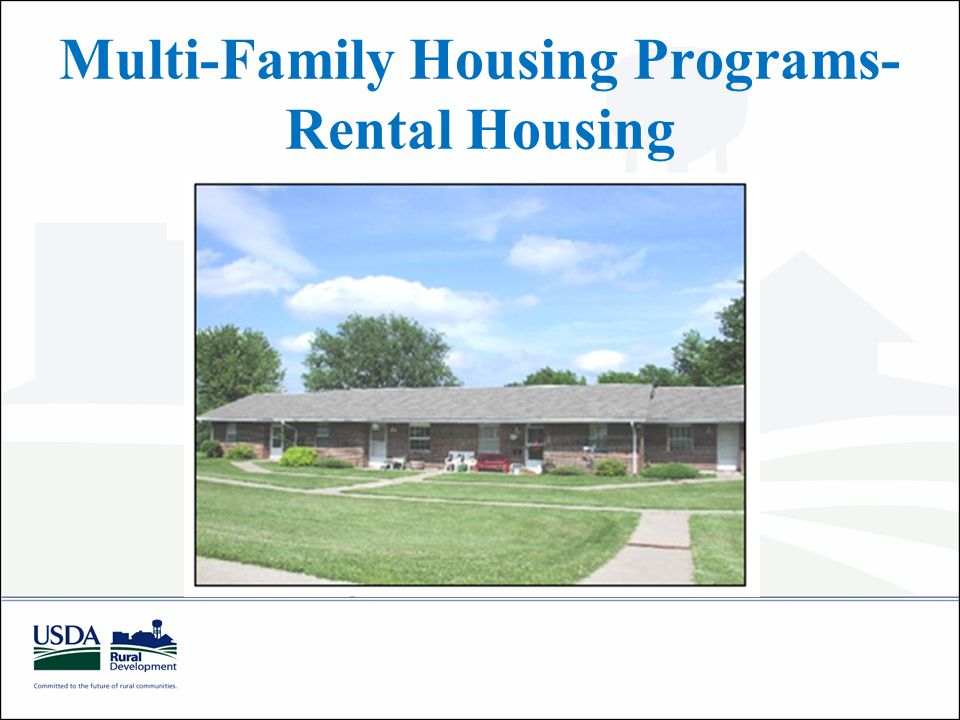 Multi-Family Housing Programs- Rental Housing