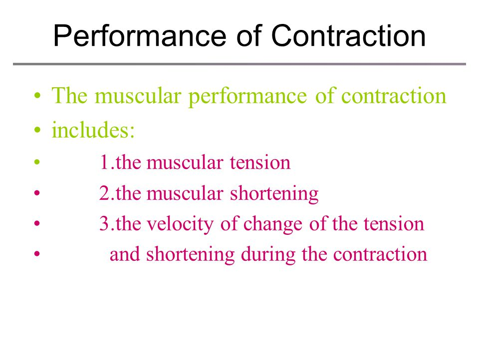 Summary: how can the skeletal muscle contract ?